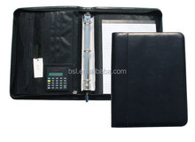wholesale leather art portfolio bag with calculator for office