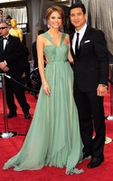 Maria Menounos Prom Evening Dress 2012 Oscar Awards Red Carpet Gown