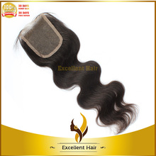 Natural Color Sassy Curly Hair Pieces For Black Women,Virgin Brazilian Hair Lace Closure