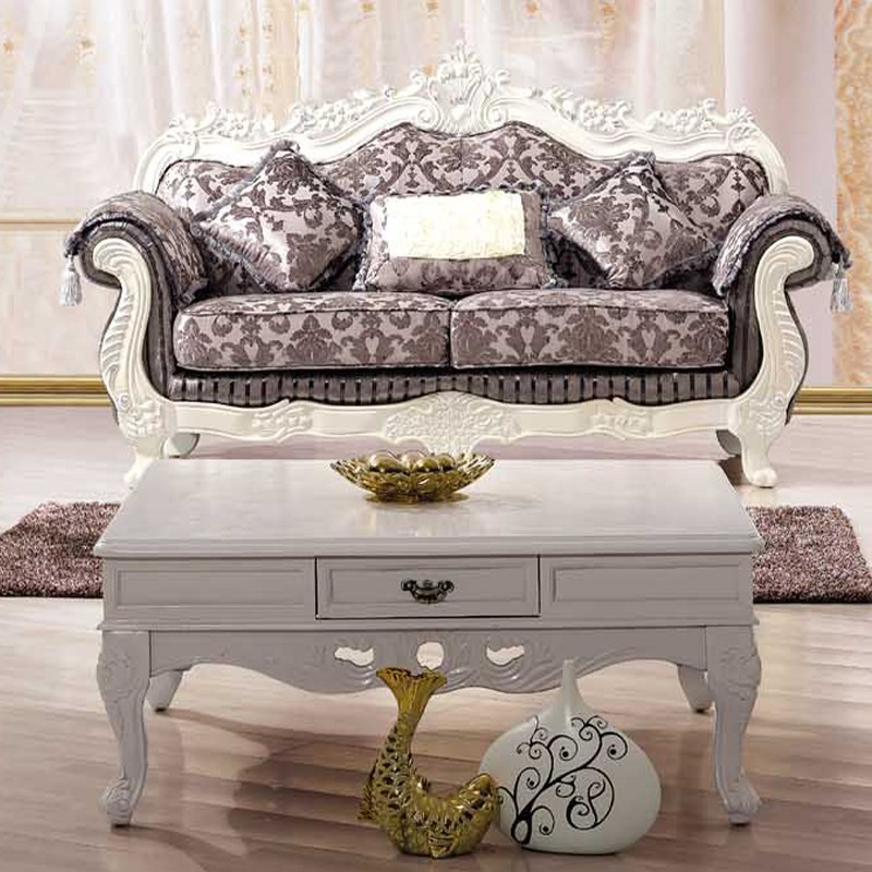 Sofa Loveseat Single Chair Coffee Table Complete Living Room Set French Country Style