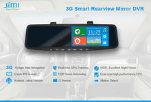 JiMi 2014 Newest 3G Smart Rearview Mirror DVR software gps tracker tk103
