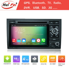 Huifei Quad Core A9 Android 4.4 Capacitive Screen 1024*600 Obd Mirror Link In Car Entertainment Car Stereo For Audi A4