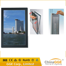 Magnetic front open light up picture frame for indoor advertising