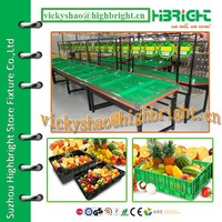 Supermarket Vegetable and Fruit Display Stand Racks