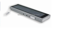 Multi-functional portable solar charger for mobile phone with torch and radio