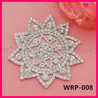 shoe decoration rhinestone applique shoe clips WRP-008