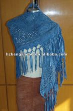 2012 LADIES FASHION STYLE OF HAND KNITTED FRINGES LEATHER SHAWLS,HAND STITCHED LEATHER SHAWLS,LASER CUT OUT EFFECT SUEDE SCARVES