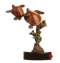 bronze wedding tortoise statues for desk decor