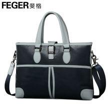 Fashion Business Men Bag Wholesale Cow Leather Fashion Handbag