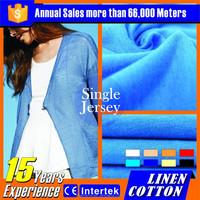2016 wholesale korea 100% organic cotton twill fabric for pants