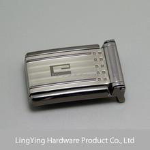 Chrome plated logo laser custom quick release belt buckle supplier