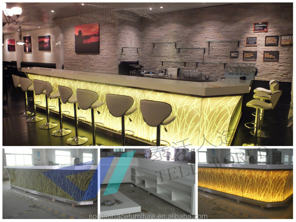 lighted bar counter top led bar counter design TW-STBC-0089