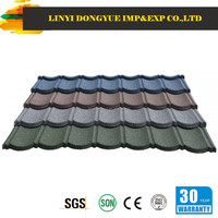 Dongyue brand china synthetic resin stone coated metal roof tile with heat resistance