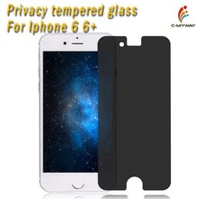 0.33mm thickness glass Screen Protector privacy for Iphone 6 ,9H Tempered Glass Protector