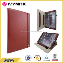 IVYMAX 2015 new arrival leather flip case wallet for iPad Pro