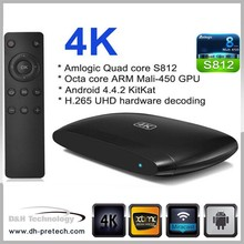Quad Core Player android 4.4 xbmc aml s812 quad core android 4.4 smart tv box av output