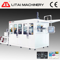 2014 LItai brand high quality disposable plastic drink cup making machine pet
