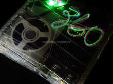 New XCM Crystal Clear Case DVD Cover with X-Light Kit For XBox 360 Slim Console