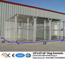 Galvanized steel cages for dogs silver ,black fence panels for dogs 5'x9.5'x6',6'x8'x6' 1 ,2 3 sections adjust dog kennels