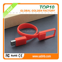 2015 New fashion red bracelet free sample free logo16GB usb stick/usb flash drive/ pen drive
