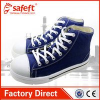 hot selling Blue industrial canvas shoes reasonable price boots shoes