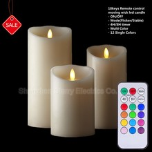 hot selling remote control smart living flameless led candles