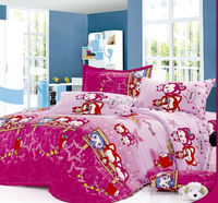 cartoon figures pigment printing home textile bed set/bed linen/bedding sheet