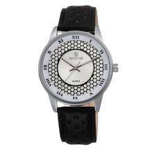 SKONE 9189 White Dial Fashion Black Leather Bracelet best selling wrist watch