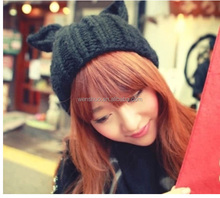 2015 Fashion New Style Winter Cute Cat Ear Knitted Wool Hats Caps Beanie
