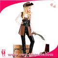luxo menina mulher pirata traje