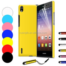Hybrid Hardshell Back Case Cover + Screen Guard + Stylus Pen For Huawei Ascend P7 With Free Shipping Cost