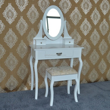 Luxury designs new modern interior decoration wooden dressing table for bed room for apartment