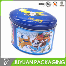 TIN FACTORY'S New Arrival Oval tin gift box metal gift box