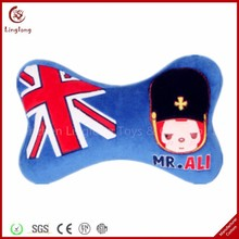 11 inches plush blue stuffed with soldier pattern bome shaped travel pillow supple comfort neck support cushion