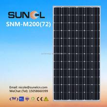 A grade high efficiency MONO 200W solar PV panel