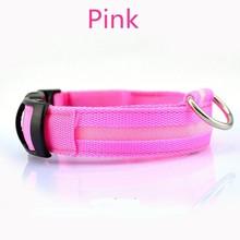 LED Flashing dog pet collar dog full plain design