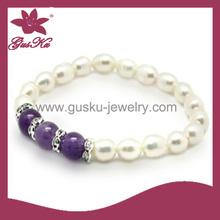 2015 PLB-003 hot sale popular birthday gifts, Freshwater pearl bracelet jewelry