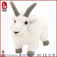 realistic white plush lamb plush goat