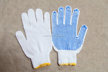 Colorful PVC Dotted Cotton Glove for working