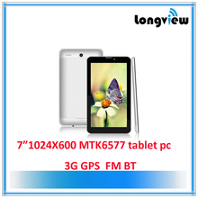 MTK6577 7 inch tablet pc with keyboard and sim card
