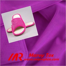 Factory direct sales mesh fabric/warp knitted fabric with slippers