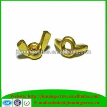 Din315 carbon steel wing/butterfly nuts with round wings hdg grade 4.8-12.9