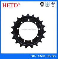HETD Motorcycle/Bicycle Chain and Sprocket set with special hole by drawing High quality sprocket