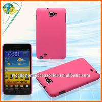 Hotsale skin cover For Sansung Galaxy Note i9220 pink rubber case