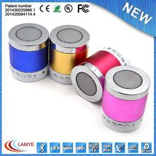 best selling products round metal bluetooth speaker bass