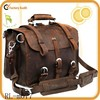 Wholesale leather briefcase high quality vintage leather weekend bags