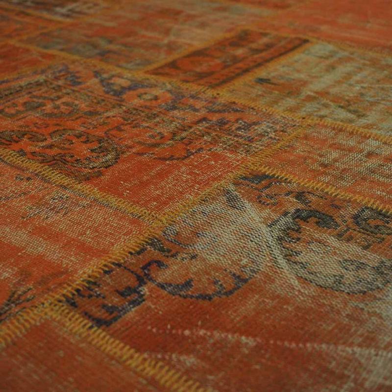Hecho a mano alfombras turcas de color naranja alfombras for Alfombras patchwork persas