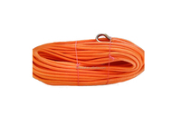 12mm x 50mtrs double braided winch ropeuhmwpe rope with thimble at both ends for 4wd/atv/off-road