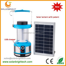 Manufactured 8 years experience with USB charger FM radio emergency portable solar energy power led camping lantern