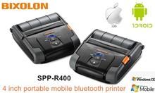 Bixolon SPP-R400 portable bluetooth printer print wide 4 inch paper